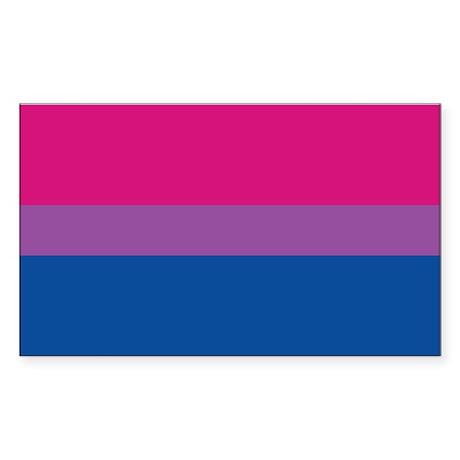 Bisexual Pride Flag Rectangle Sticker