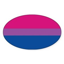 Bisexual Pride Flag Oval Decal
