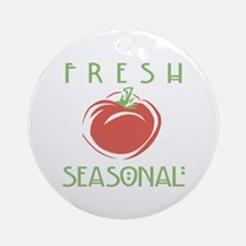 Fresh Seasonal Ornament (Round)
