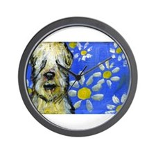 Wheaten Daisies Wall Clock
