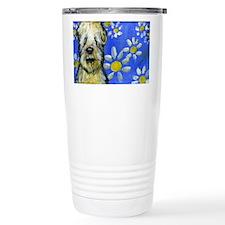 Wheaten Daisies Travel Coffee Mug