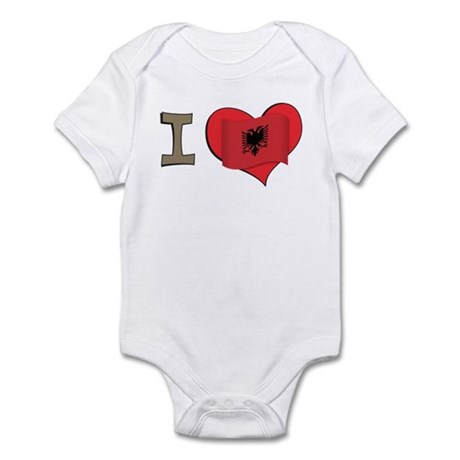 I heart Albania Infant Bodysuit