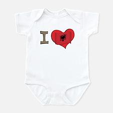 I heart Albania Infant Bodysuit
