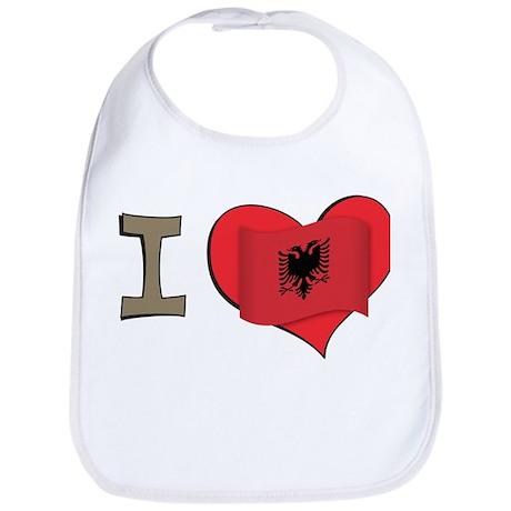 I heart Albania Bib