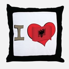 I heart Albania Throw Pillow