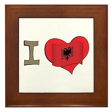 I heart Albania Framed Tile