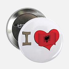 "I heart Albania 2.25"" Button"