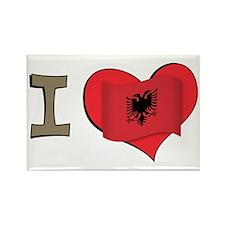 I heart Albania Rectangle Magnet