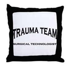 Trauma Team ST - black Throw Pillow