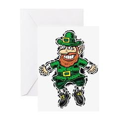 St. Patrick's Leprechaun Greeting Card