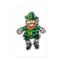 St. Patrick's Leprechaun Rectangle Sticker 10 pk)