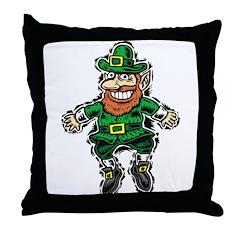 St. Patrick's Leprechaun Throw Pillow