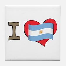 I heart Argentina Tile Coaster