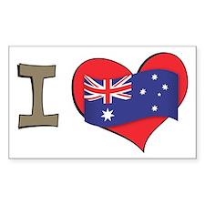 I heart Australia Rectangle Decal