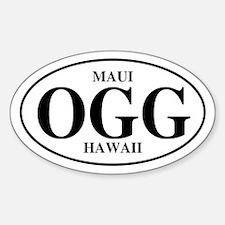 OGG Maui Oval Decal