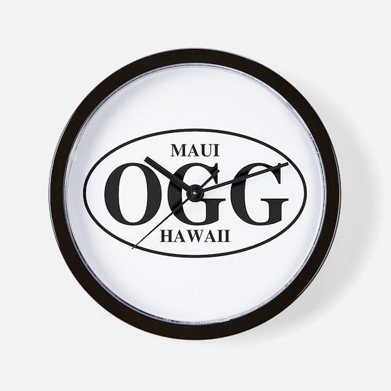 OGG Maui Wall Clock