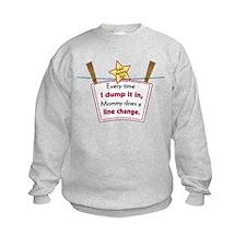 line change dump Sweatshirt