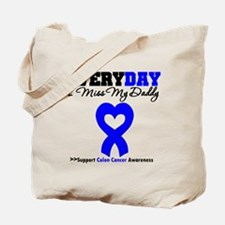 ColonCancerHeart Daddy Tote Bag