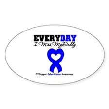 ColonCancerHeart Daddy Oval Decal