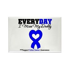 ColonCancerHeart Daddy Rectangle Magnet
