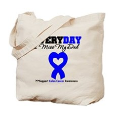 ColonCancerHeart Dad Tote Bag