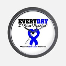 ColonCancerHeart Dad Wall Clock