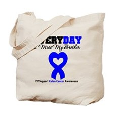 ColonCancerHeart Brother Tote Bag