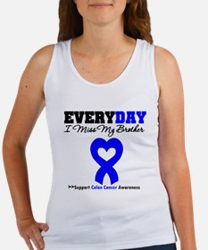 ColonCancerHeart Brother Women's Tank Top