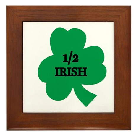 1/2 Irish Framed Tile