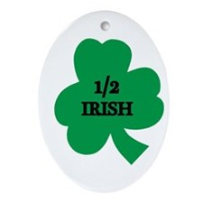 1/2 Irish Oval Ornament