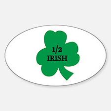 1/2 Irish Oval Decal