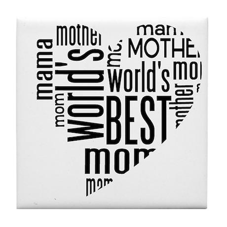 World's Best Mother Tile Coaster
