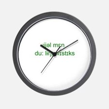 Cute Linguistics Wall Clock