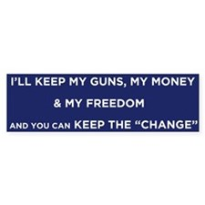 Keep the Change Bumper Bumper Sticker