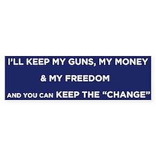 Keep the Change Bumper Car Sticker