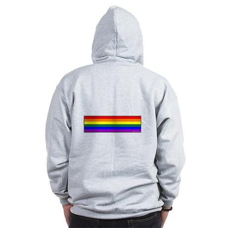 Rainbow Pride Flag Zip Hoodie