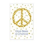 Give Bees a Chance Mini Poster Print