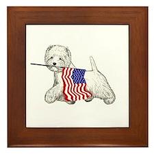 Patriotic Westie Framed Tile