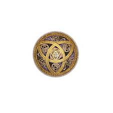 Celtic Sun Mini Button