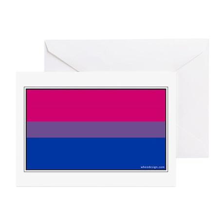 Bi-Sexual Pride Flag Greeting Cards (20 pack)