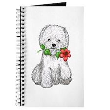 Westie with Flower Journal