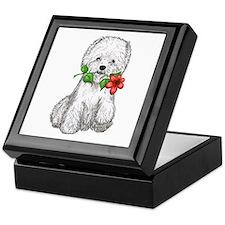 Westie with Flower Keepsake Box