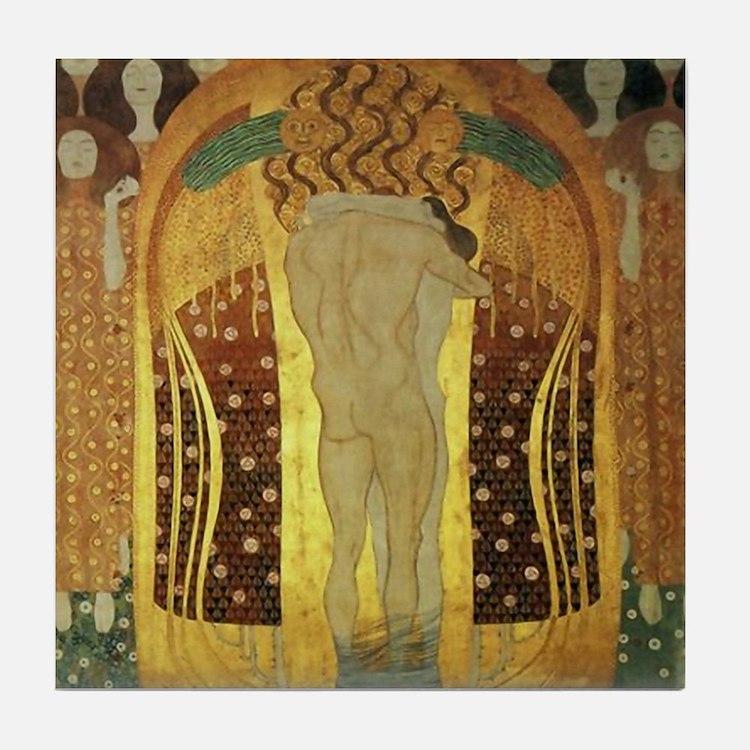 Gustav Klimt Art Tile Coaster Beethoven Frieze 2/2