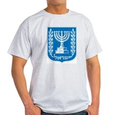 Israel Coat Of Arms Ash Grey T-Shirt