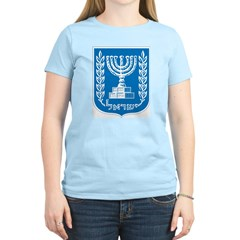 Israel Coat Of Arms Women's Pink T-Shirt