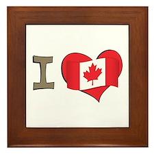 I heart Canada Framed Tile