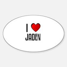 I LOVE JADEN Oval Decal