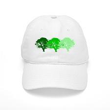 3 Trees Silhouette Baseball Cap