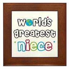 World's Greatest Niece! Framed Tile