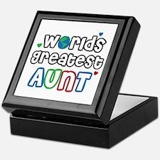 World's Greatest Aunt! Keepsake Box